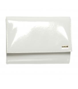 Malá biela spoločenská kabelka v lakovanom prevedení SP128 - Grosso