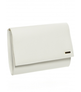 Malá biela spoločenská kabelka v matnom prevedení SP128 - Grosso