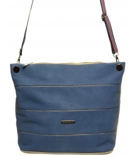Modrá crossbody taška so športovým remienkom S675 - Grosso