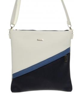 Elegantní bílo-modrá crossbody kabelka M217 - Grosso