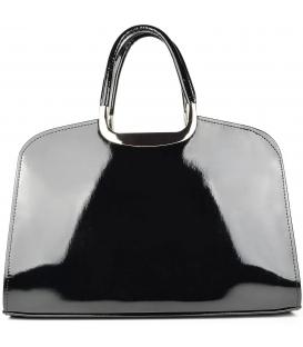 Čierna kabelka nero hladky lak S6 - Grosso