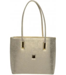 Zlatá elegantná kabelka cez plece S645 - Grosso