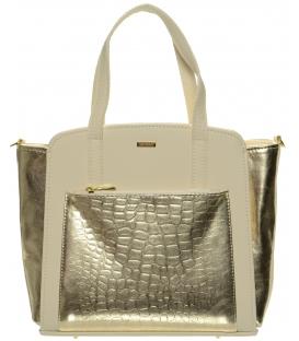 Zlato-béžová moderná kabelka S674 - Grosso