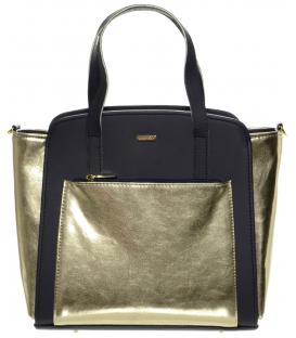Zlato-modrá moderná kabelka S674 - Grosso