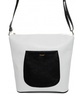 Bielo-čierna crossbody kabelka M195 - Grosso