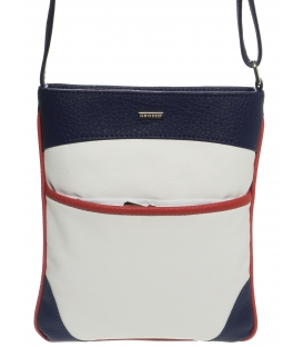 Bílo-modro-červená crossbody taška M244 - Grosso