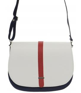 Bílo-modro-červená crossbody taška M264 - Grosso