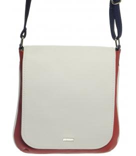 Bielo-modro-červená preklápacia crossbody taška M261- Grosso