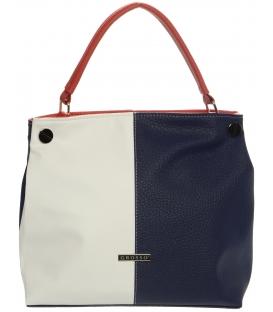 Mechová kabelka přes rameno v barvě trikolory S678 - Grosso