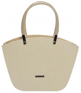 Béžová elegantná kabelka S525 - Grosso