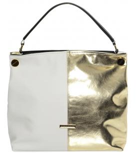 Bielo-zlatá kabelka cez rameno S678 - Grosso
