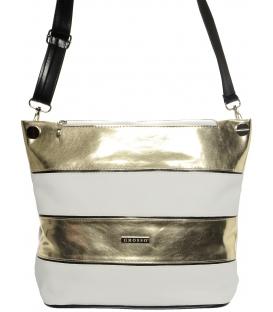 Bílo-zlatá praktická crossbody kabelka S675 - Grosso