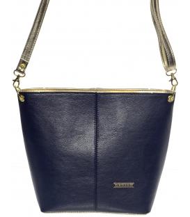 Modro-zlatá crossbody kabelka M326 - Grosso