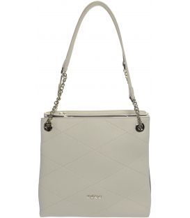 Sivá praktická kabelka s retiazkou S652 - Grosso