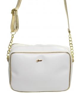 Bílo-zlatá elegantní crossbody kabelka M206 - Grosso