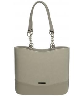 Písková vysoká kabelka s pevným tvarem S656 - Grosso