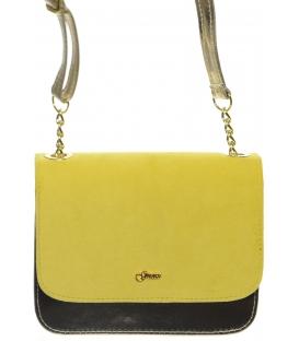 Žluto-zlatá crossbody kabelka s řetízkem M270 - Grosso