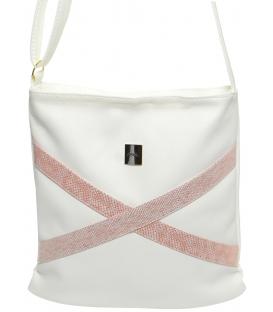 Fehér rózsaszín crossbody táska M272 - Grosso