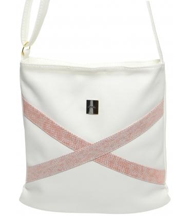 Bílo-růžová crossbody taška M272 - Grosso