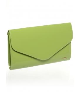 Zelená laková společenská kabelka SP102 - Grosso