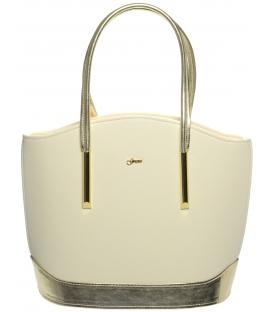 Béžovo zlatá elegantná kabelka S55   Grosso