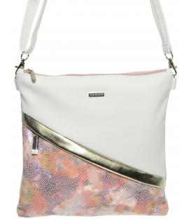 Bielo-ružová crossbody taška s mozaikou M217 - Grosso