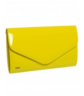 Žlutá clutch kabelka do ruky SP102 - Grosso