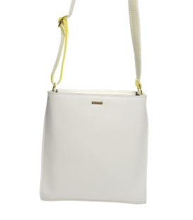 Bílá crossbody kabelka se žlutými boky M184I - Grosso