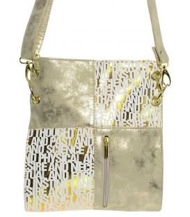 Zlatá crossbody taška s nápisem M187 Grosso