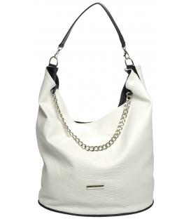 Bílá kabelka přes rameno s kroko přechodem S633 - Grosso (1)