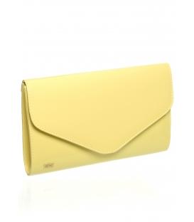 Žlutá pastelová clutch kabelka do ruky SP102 - Grosso