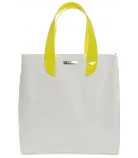 Bílo-černá elegantní kabelka S583 - Grosso