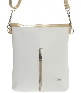 Bílo - hnědá elegantní crossbody taška M154 - Grosso