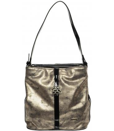 Medeno-čierna kabelka cez rameno S404 - Grosso