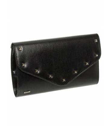 Čierna listová kabelka s vybíjaním SP102 - Grosso