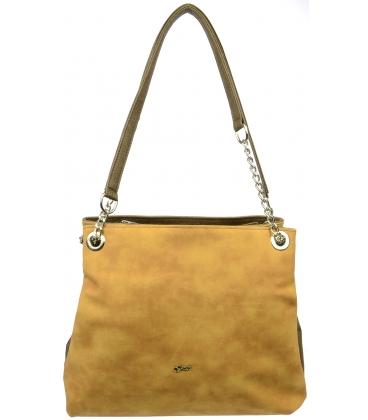 Horčicovo-hnedá kabelka S652 - Grosso