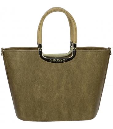 Hnedá elegantná kabelka do ruky S7 - Grosso