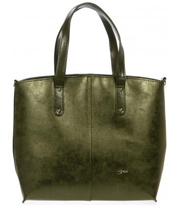 Bronzová elegantní kabelka přes rameno S696 - Grosso