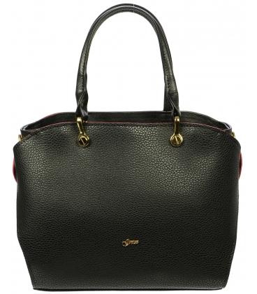 Čierna elegantná kabelka S686 - Grosso