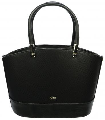 Černá elegantní kabelka S693 - Grosso