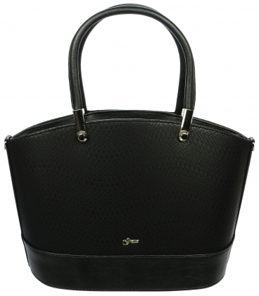 Čierna elegantná kabelka S693 - Grosso