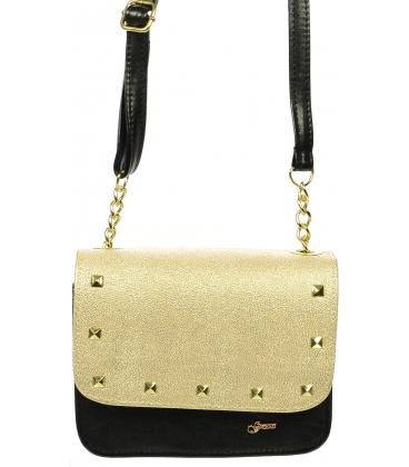 Čierno zlatá elegantná crossbody taška M270 - Grosso