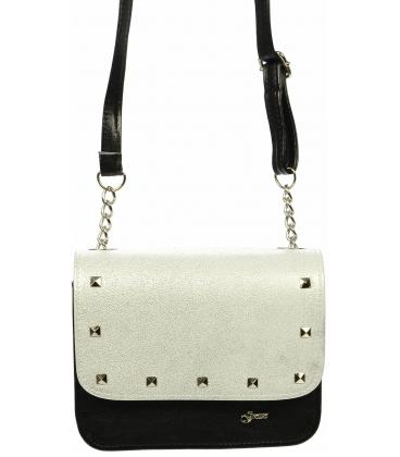 Stříbrno černá elegantní crossbody taška M270 - Grosso