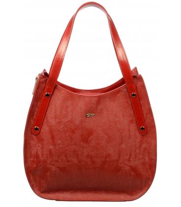 Sportovně elegantní červená kabelka S704 - Grosso