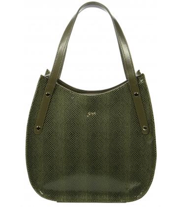 Športovo elegantná zelená kabelka S704 - Grosso