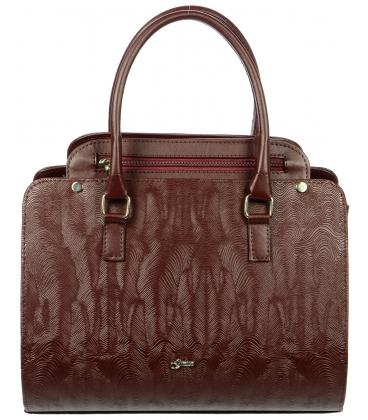 Bordová elegantná kabelka s potlačou S705 - Grosso