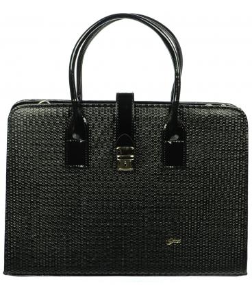 Čierna elegantná aktovka S563 - Grosso