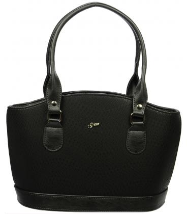 Čierna elegantná kabelka S37 - Grosso