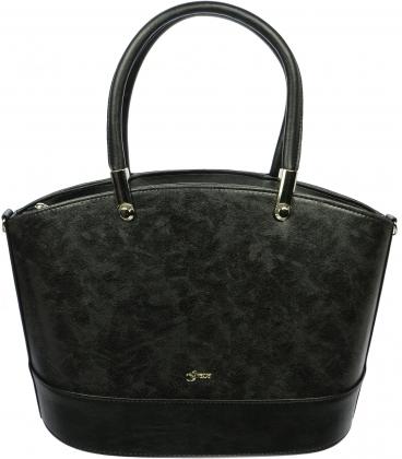 Čierna elegantná matná kabelka S693 - Grosso