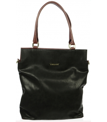 Stylová černo-červená taška S602 - Grosso